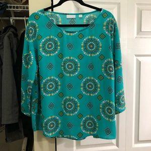 Gorgeous, flowy print blouse